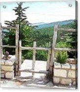 Do-00458 Fence Mar Charbel Chabel Acrylic Print