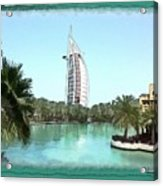 Do-00464 View Of Burj Al-arab Acrylic Print