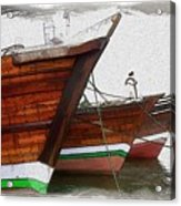 Do-00476 Abra Dhow Boats Acrylic Print