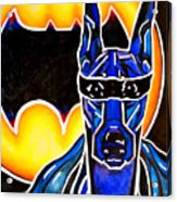 Dog Superhero Bat Acrylic Print