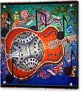Dobro - Slide Guitar-bordered Acrylic Print