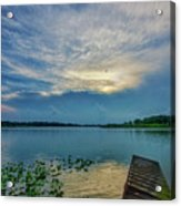 Dock At Shipshewana Lake Acrylic Print