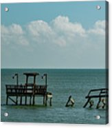 Dock By The Sea Acrylic Print