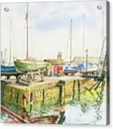 Dock Gate Dysart Harbour Fife Acrylic Print