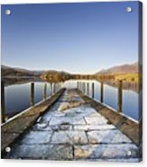 Dock In A Lake, Cumbria, England Acrylic Print by John Short