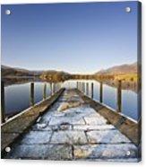 Dock In A Lake, Cumbria, England Acrylic Print by John Short