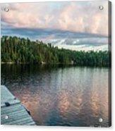 Dock Of The Lake Acrylic Print