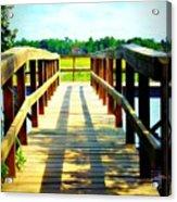 Dock On Alston Creek Acrylic Print