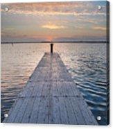 Dock On Arcata Bay At Twilight Acrylic Print