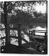 Dock On The Bayou Acrylic Print