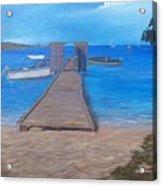 Dock on the Beach Acrylic Print