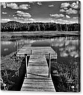 Dock On The Moose River Acrylic Print