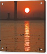 Dock Tower Sunrise Acrylic Print