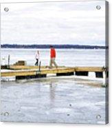 Dock Walking  Acrylic Print