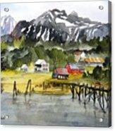 Docked At Haines Alaska Acrylic Print