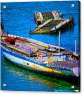 Docked Boat Acrylic Print