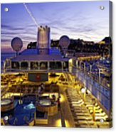 Docked In Monte Carlo Acrylic Print
