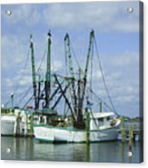 Docked In Port Orange Acrylic Print