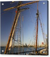 Docked Tall Ship Acrylic Print