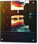 Dockland Sun Down Acrylic Print