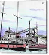 Docks N Boats Acrylic Print