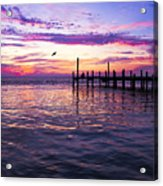Dockside Sunset Acrylic Print