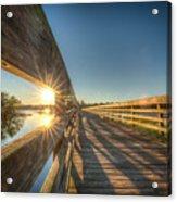 Dockside Sunset Acrylic Print