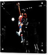 Doctor J Over The Top Acrylic Print