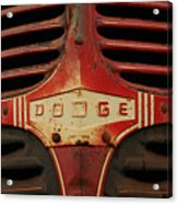 Dodge 41 Grill Acrylic Print by Steve Augustin