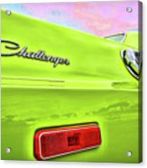 Dodge Challenger In Sublime Green Acrylic Print