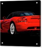 Dodge Viper 'red Tail' Roadster Acrylic Print