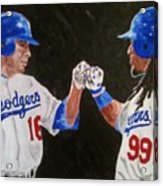 Dodgers Duo Acrylic Print by Daryl Williams Jr