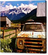 Dodging Mount Currie Acrylic Print