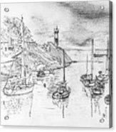 Doellan Sur Mer, Le Port Acrylic Print