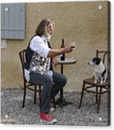 Dog And Master Acrylic Print
