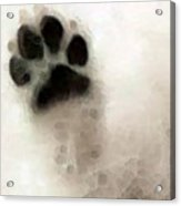 Dog Art - I Paw You Acrylic Print