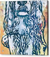 Dog Pop Etching Art Poster Acrylic Print