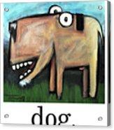 Dog Poster Acrylic Print