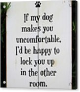 Dog Smart Acrylic Print