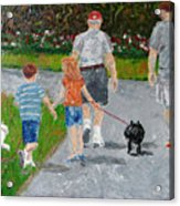 Dog Walkers Acrylic Print