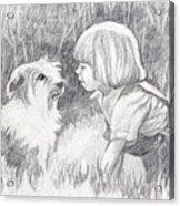 Dog Whisperer Acrylic Print