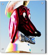 Doggie Diner Sign Acrylic Print by Samuel Sheats