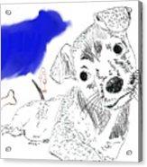 Doggie Dreams Acrylic Print