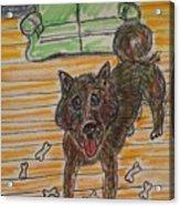 Doggy Snack Time Acrylic Print