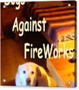 Dogs Against Fireworks Acrylic Print
