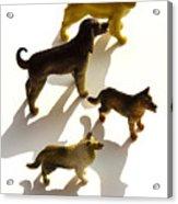 Dogs Figurines Acrylic Print