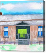 Dogtrot Cracker Home Drawing Acrylic Print