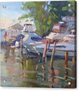 Docks At The Shores  Acrylic Print