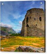 Dolbadarn Castle  Acrylic Print by Adrian Evans