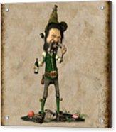 Doldhor - Leprechaun Painting  Acrylic Print